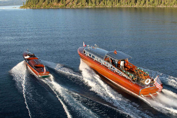 Photograph - Classic Mahogany Runabouts by Steven Lapkin