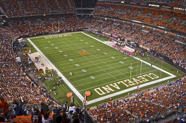 Brown County Photograph - Cleveland Browns Stadium by Frozen in Time Fine Art Photography