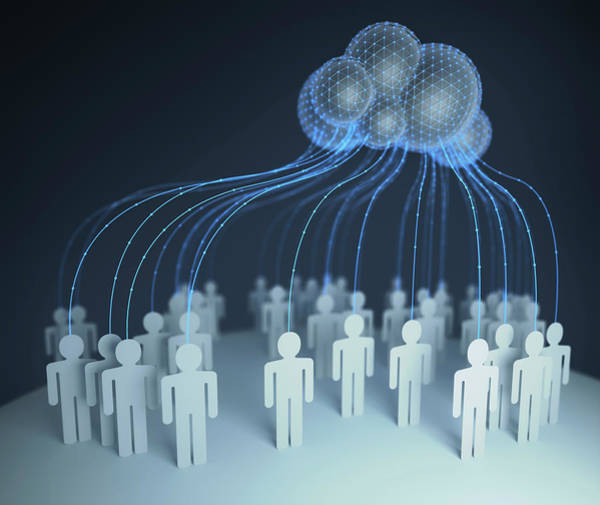 Photograph - Cloud Computing by Ktsdesign/science Photo Library