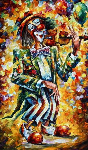 Circus Clown Painting - Clown by Leonid Afremov