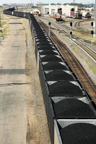 Coal Mining Photograph - Coal Train by Jim West