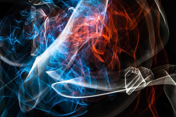 Photograph - 3 Color Light Painting by Sven Brogren