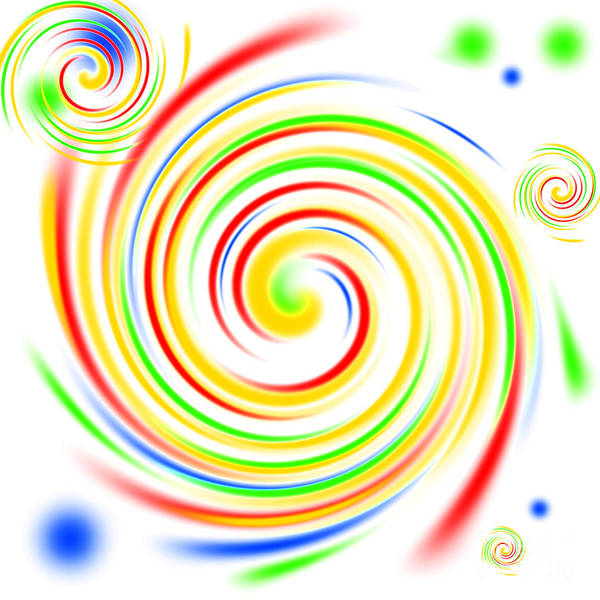 Whirlwind Digital Art - Color Swirls by Henrik Lehnerer
