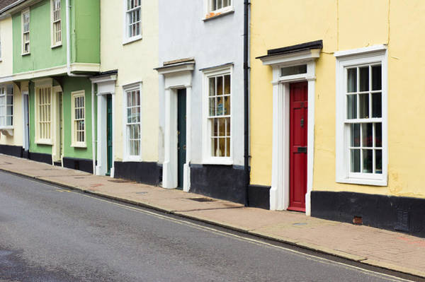 Housing Development Photograph - Colorful Houses by Tom Gowanlock
