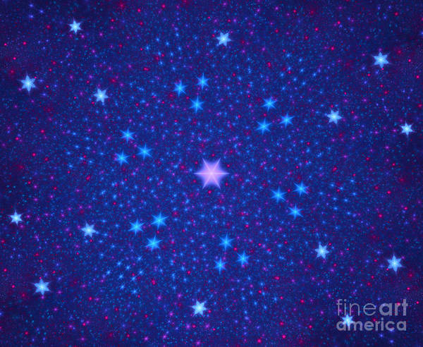 Bollywood Wall Art - Digital Art - Colorful Stars Abstract by Odon Czintos