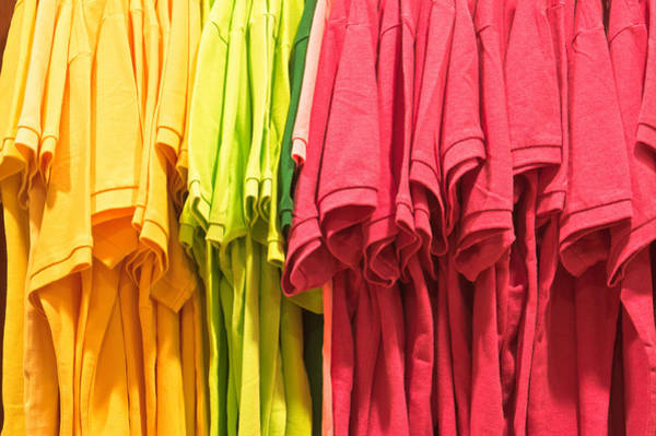 Dress Shop Photograph - Colorful Tops by Tom Gowanlock