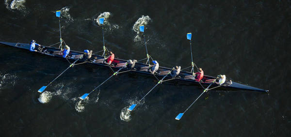 Rowing Photograph - Competitors Practicing For The Annual by Dave Cleaveland