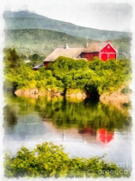 Farm Water Photograph - Connecticut River Farm by Edward Fielding