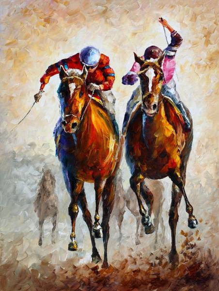Magic Realism Painting - Contenders by Leonid Afremov