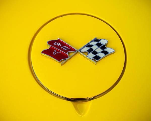 Photograph - Corvette Flags by Ron Pate