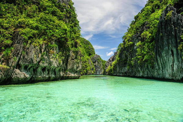 Archipelago Photograph - Crystal Clear Water In The Bacuit by Michael Runkel