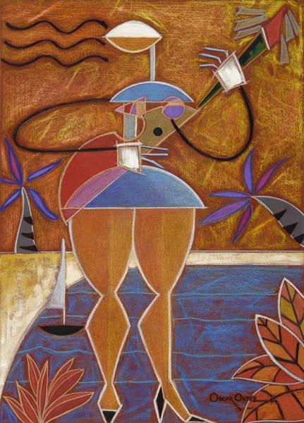 Painting - Cuatro Caliente by Oscar Ortiz