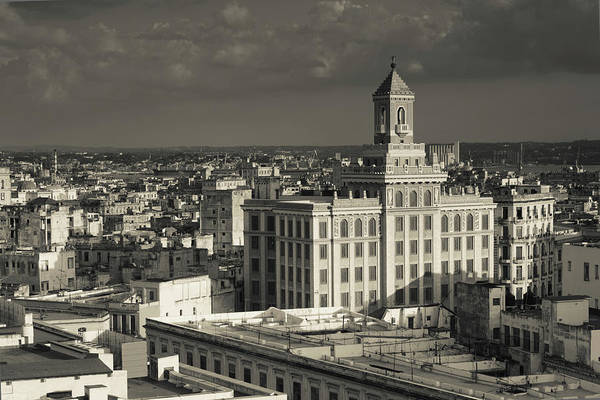 Bacardi Photograph - Cuba, Havana, Elevated View by Walter Bibikow