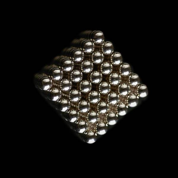 Controversial Photograph - Cube Of Neodymium Magnets by Science Photo Library