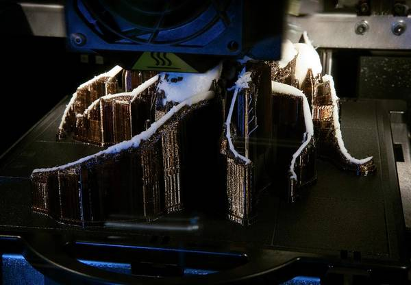 Printer Photograph - 3-d Printer Printing A Prehistoric Ant by Pascal Goetgheluck/science Photo Library