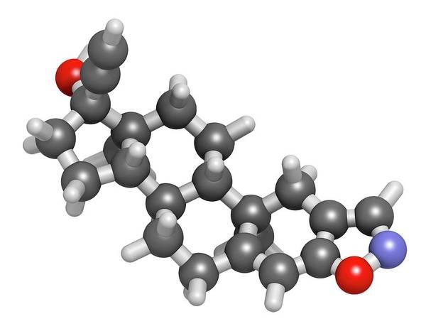 Molecular Wall Art - Photograph - Danazol Endometriosis Drug Molecule by Molekuul/science Photo Library
