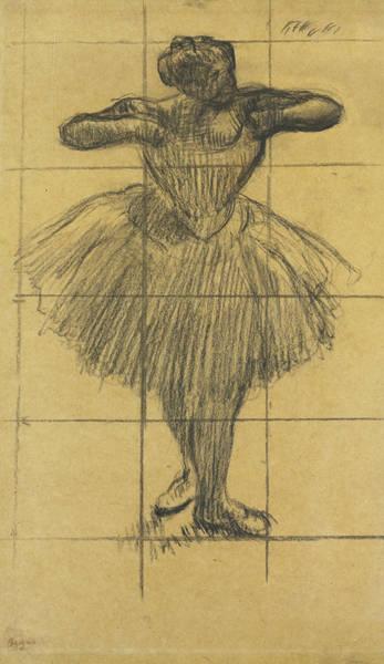 Impressionistic Drawing - Dancer by Edgar Degas