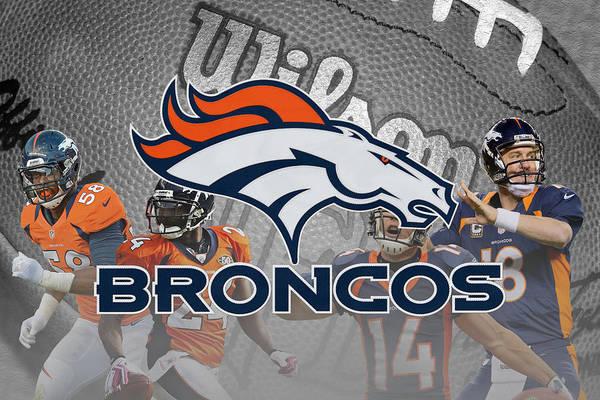 Bailey Photograph - Denver Broncos by Joe Hamilton