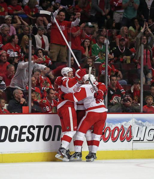 Chicago Blackhawks Photograph - Detroit Red Wings V Chicago Blackhawks by Jonathan Daniel