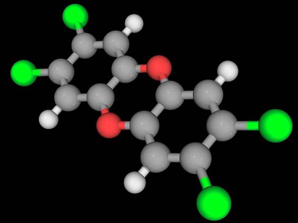 Wall Art - Photograph - Dioxin Tcdd Molecule by Laguna Design/science Photo Library