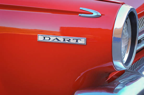 Photograph - Dodge Dart Emblem by Jill Reger