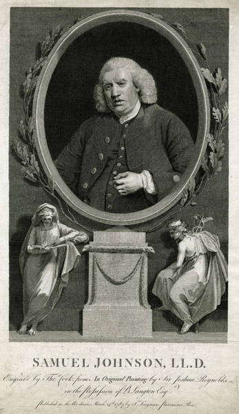 Wall Art - Drawing - Dr Samuel Johnson  Writer by Mary Evans Picture Library