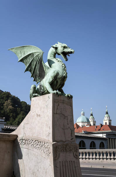 Ljubljana Wall Art - Photograph - Dragon Bridge. Ljubljana. by Fernando Barozza