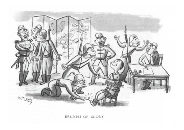 Torture Drawing - Dreams Of Glory by William Steig