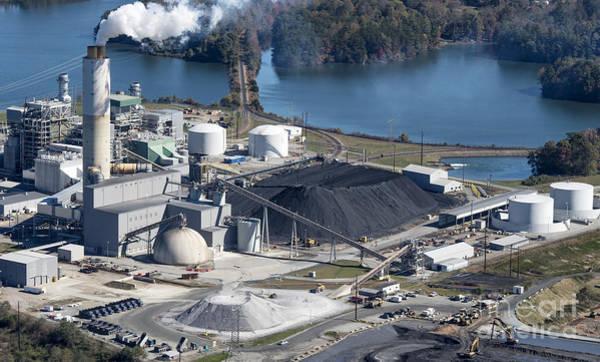 David Weber Photograph - Duke Energy Coal Burning Asheville Plant by David Oppenheimer