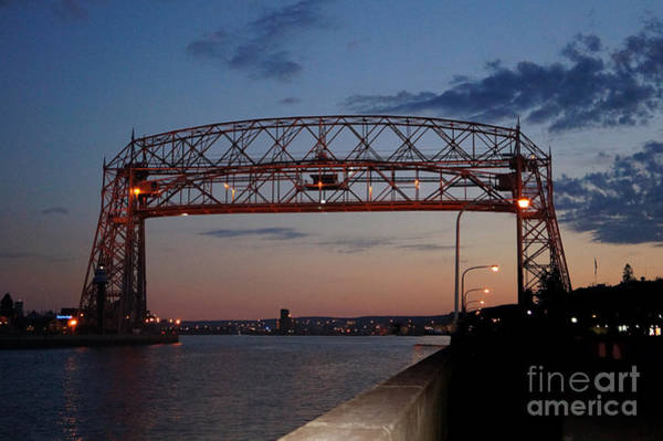 Wall Art - Photograph - Duluth Aerial Lift Bridge by Lori Tordsen