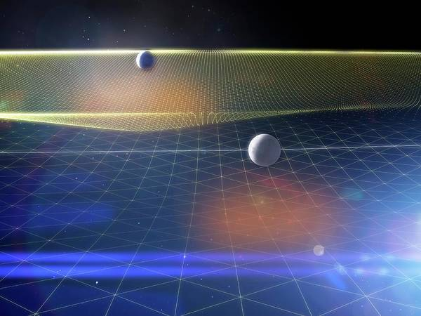 Earth Orbit Photograph - Earth And Moon And Space-time by Ramon Andrade 3dciencia