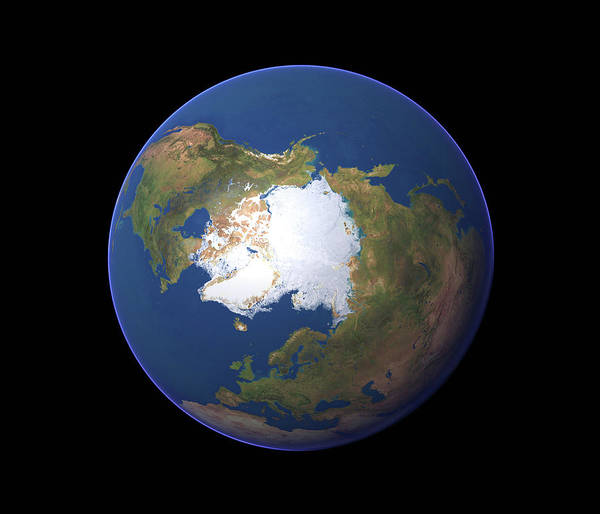 Wall Art - Photograph - Earth's Northern Hemisphere by Planetary Visions Ltd/science Photo Library
