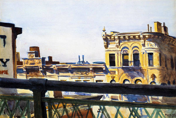 Wall Art - Photograph - Manhattan Bridge And Lily Apartments by Edward Hopper
