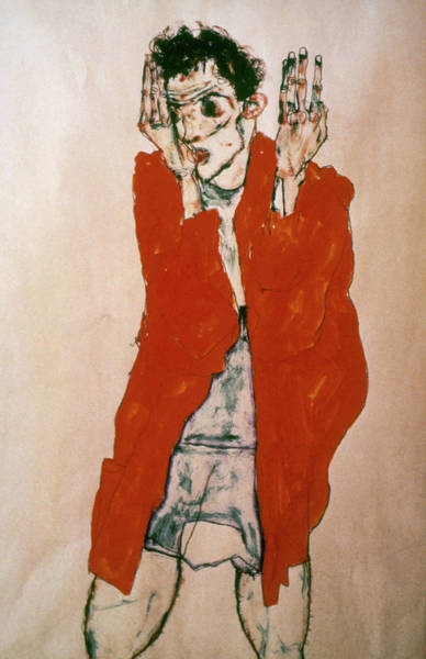Wall Art - Painting - Egon Schiele (1890-1918) by Granger