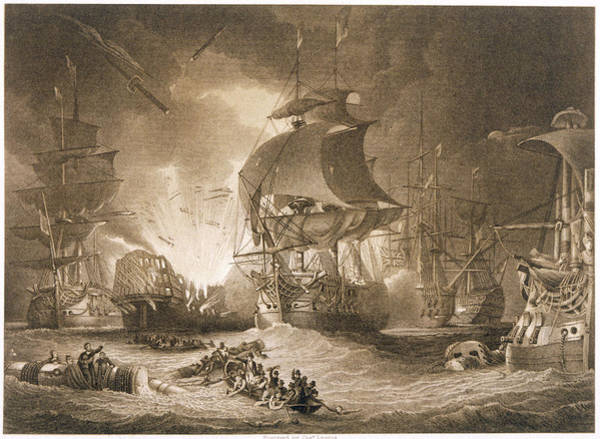 Wall Art - Drawing - Egyptian Campaign Battle Of The Nile by Mary Evans Picture Library