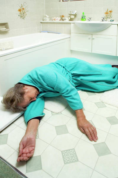 Wall Art - Photograph - Elderly Woman Injured By Falling by Paul Rapson/science Photo Library