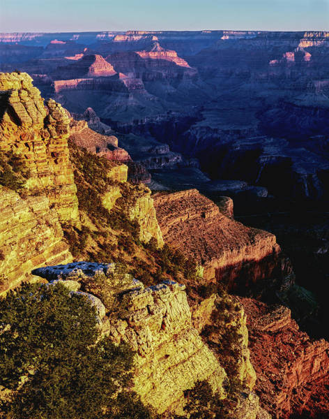Mather Point Photograph - Elevated View Of The Rock Formations by Panoramic Images