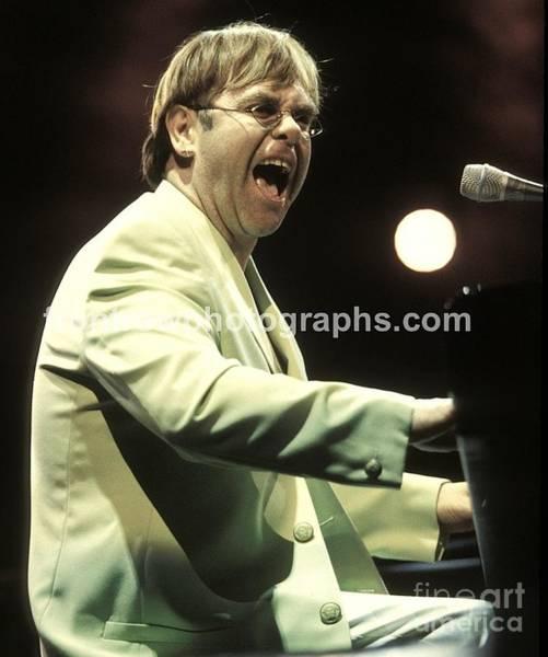 Elton John Photograph - Elton John by Concert Photos