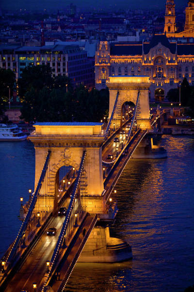 Chain Bridge Photograph - Europe, Hungary, Budapest by Jaynes Gallery