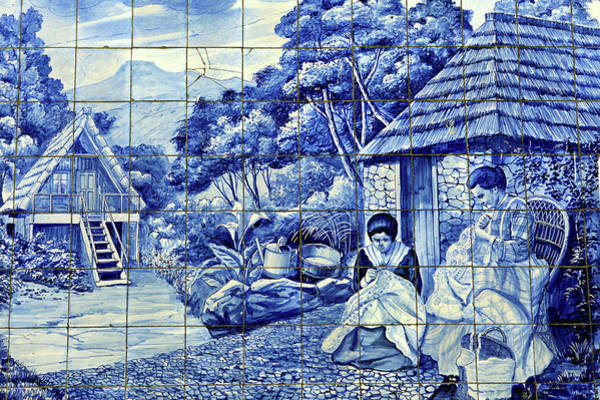 Glazed Tiles Photograph - Europe, Portugal, Madeira by Kymri Wilt