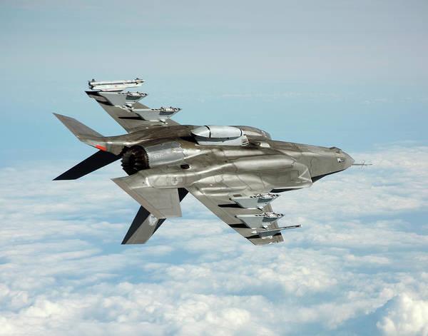 Lightning Strike Photograph - F-35b Fighter Jet by Us Defense