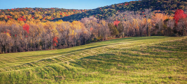 Photograph - Farm Land Sussex County Western New Jersey Painted   by Rich Franco