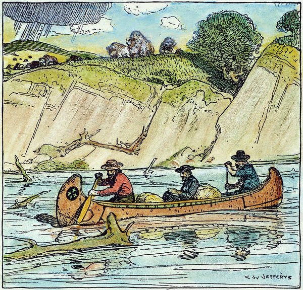 Mississippi River Drawing - Father Jacques Marquette by Granger