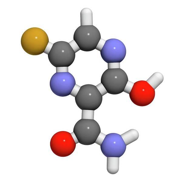 Faviparivir Antiviral Drug Molecule Art Print