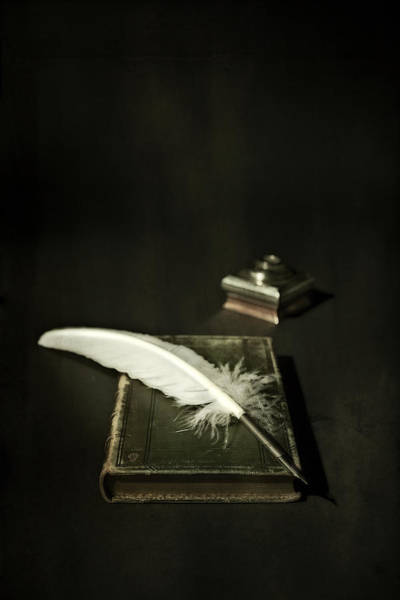 Ink Photograph - Feather by Joana Kruse