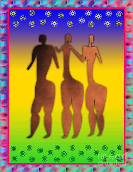 Digital Art - 3 Sisters by Walter Neal