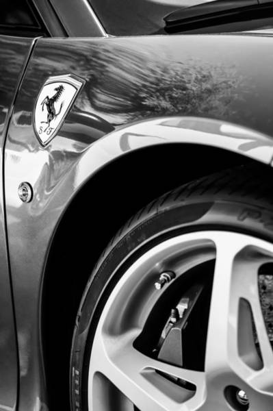 Photograph - Ferrari Side Emblem by Jill Reger