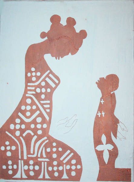 Mama Africa Wall Art - Painting - Finding Of The Lord Jesus In The Temple by Gloria Ssali