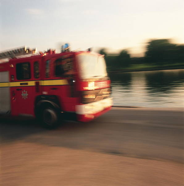 Wall Art - Photograph - Fire Engine by Simon Lewis/science Photo Library