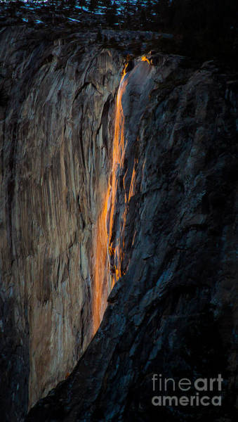 Photograph - Firefall by Charles Garcia